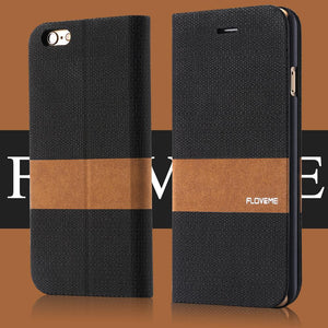 Flip PU Leather Wallet Cover For iPhone - Elegant Case