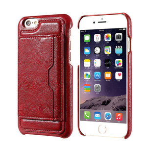 Business Wallet Leather Back Cover For iPhone - Best iPhone Cases