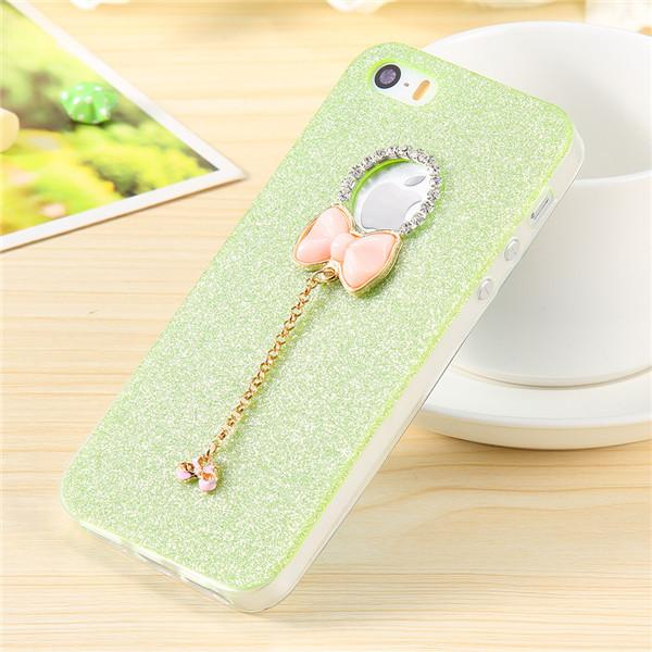 Handmade Butterfly Knot Diamond Logo Hole Case For iPhone 5 - Elegant Case