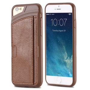 Vintage Soft Leather Back Cover For iPhone with Card Holder - Best iPhone Cases
