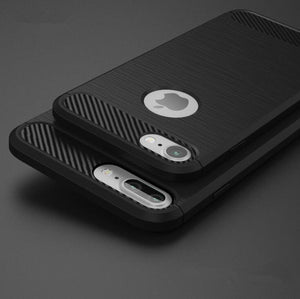 Full Protection Shockproof  Case for iPhone - Carbon Fiber Reinforced - Elegant Case