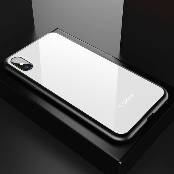 Hybrid Glass Protective Case + FREE iPhone Ring Holder - Elegant Case