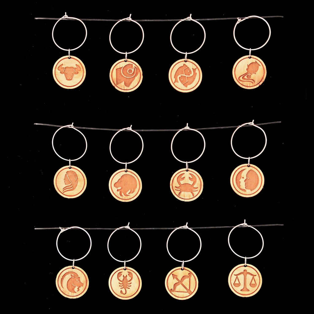Glass Charms: Western Zodiac