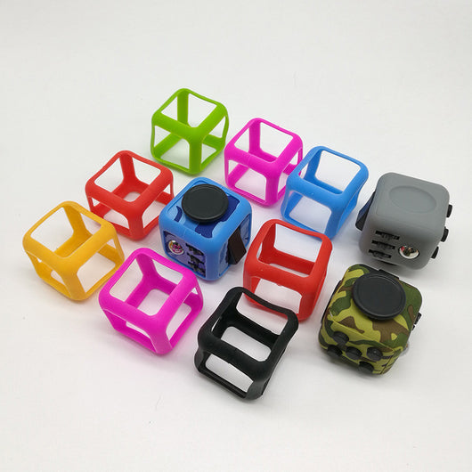 Fidget Cube Prism Silicone Shockproof Protector