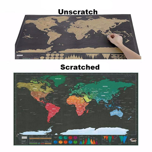 Scratch Off World Map Poster Cartdoodle