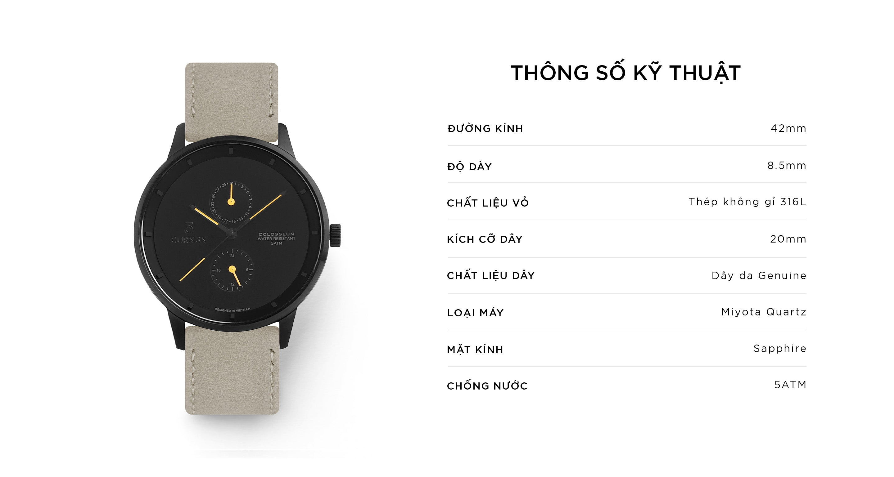 Đồng Hồ Thời Trang Colosseum Spear - Curnon Watch