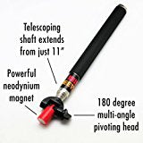 MagnetPal Grabbit Stick Telescoping Magnetic Pickup Tool, Retractable Magnet Pickup Tools, Picker Upper Grabber with Neodymium Anti-Rust Magnet, Heavy Duty Extendable Arm with Most Powerful Magnet