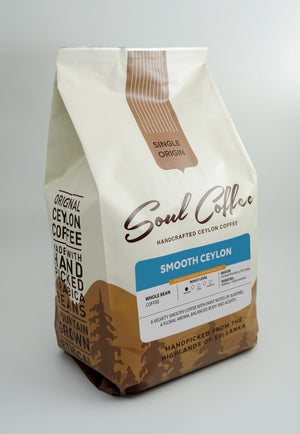 Smooth Ceylon Medium Roast  - Whole Bean Coffee 500g