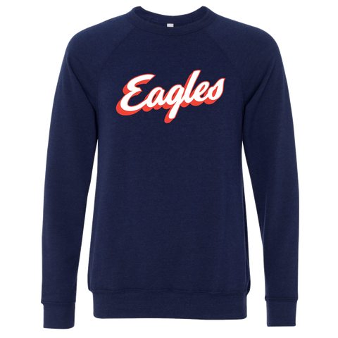Liberty-Benton Retro Eagles Script Navy Crewneck Sweatshirt
