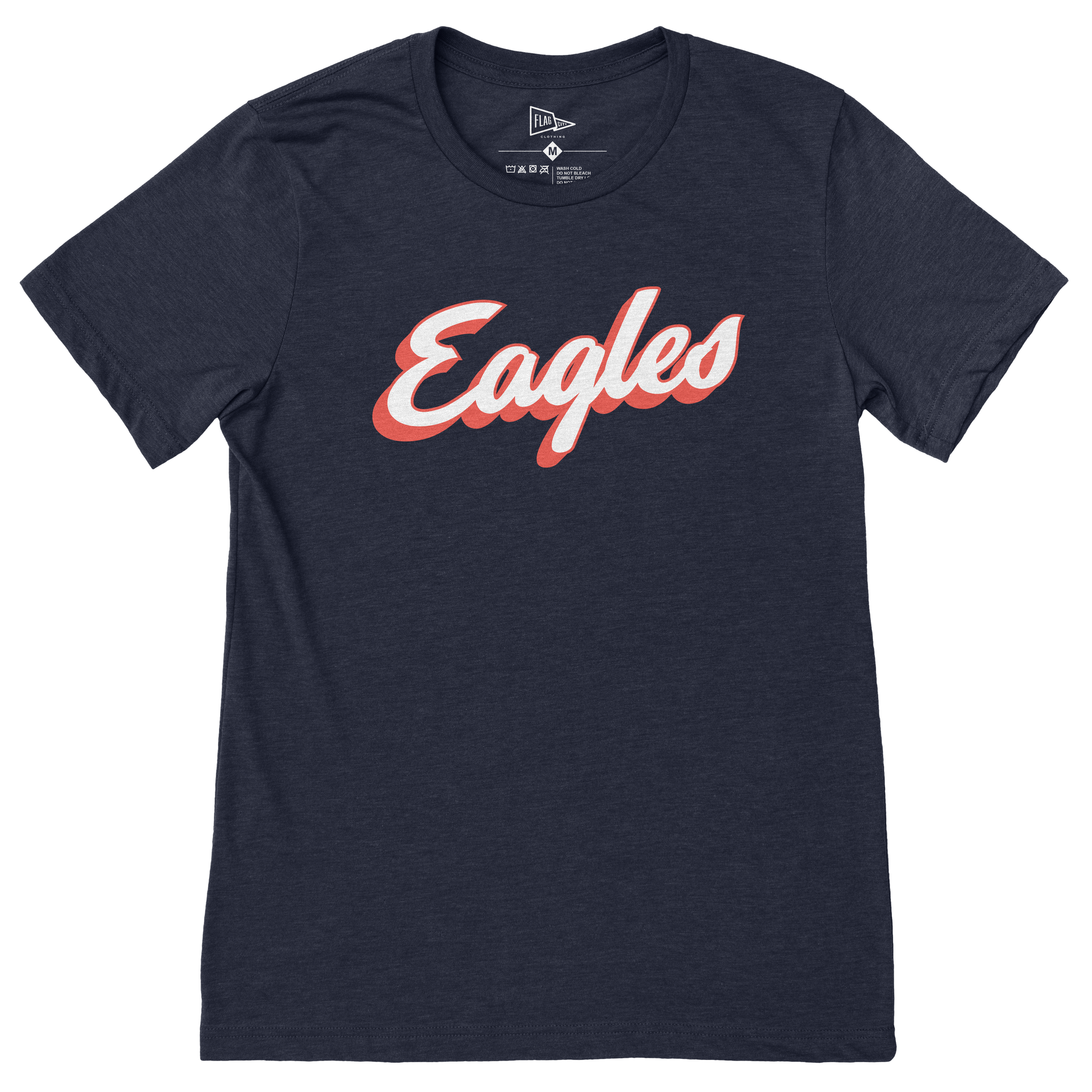 Liberty-Benton Retro Eagles Script Navy T-Shirt