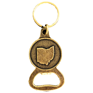Ohio Bottle Opener Keychain