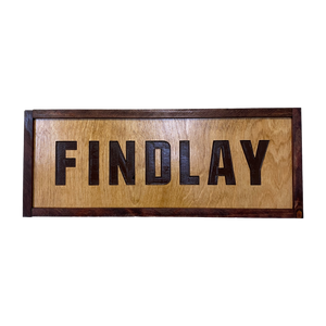 Findlay 7x20 Wall Sign (Hand Made)