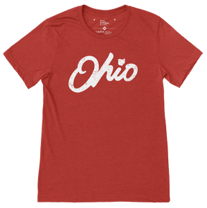 Ohio Script Red T-Shirt