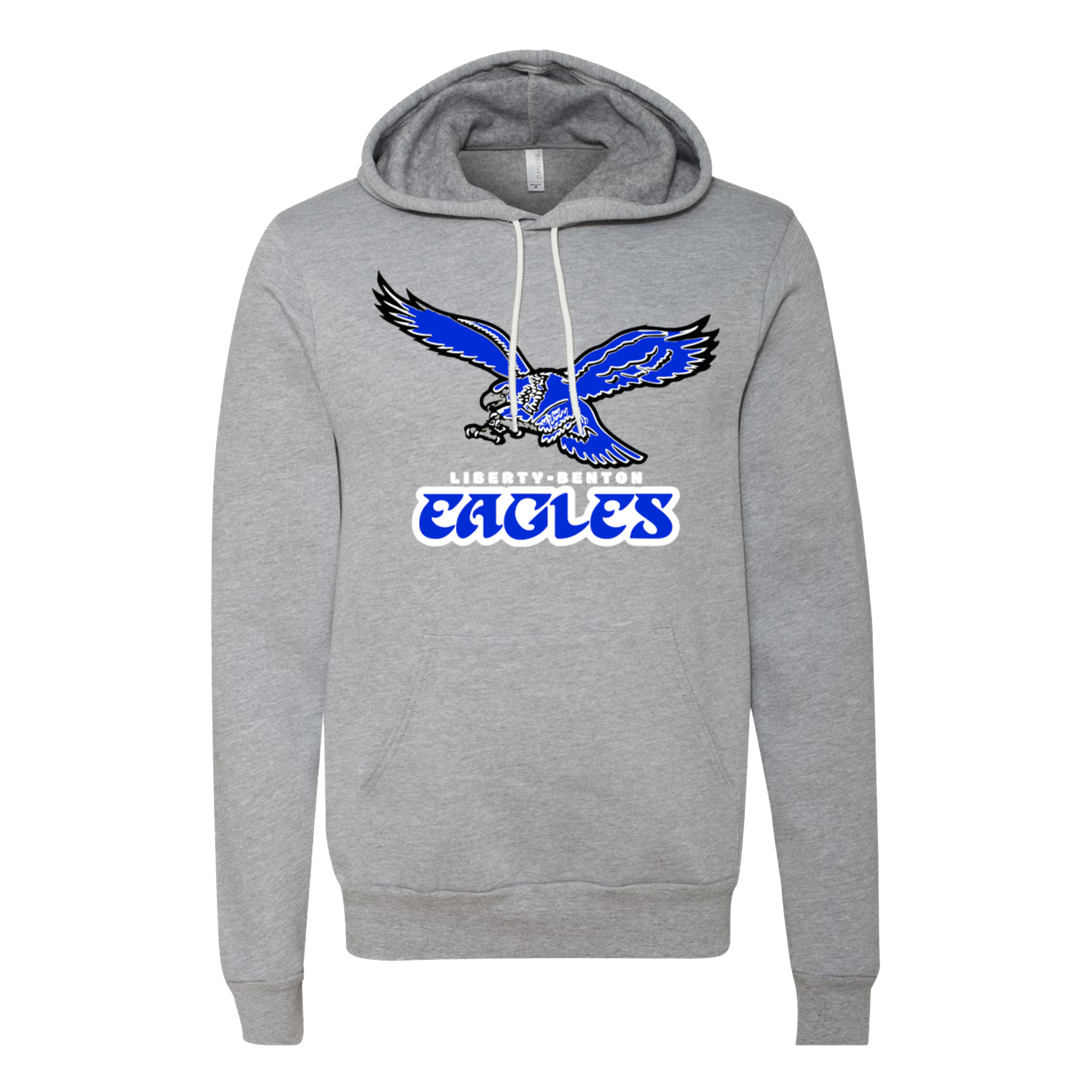 Retro Liberty-Benton Eagles Logo Hoodie