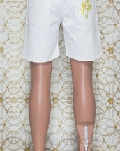 NEW VERSACE JEANS WHITE DENIM SHORTS  48 - 32 (M)