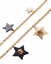 New Versace Gold Plated Star Medusa Charm Chain Necklace