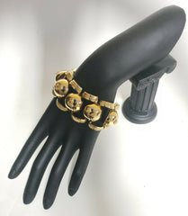 NEW VERSACE GOLD PLATED METAL MEDUSA BRACELET
