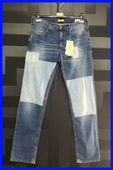BRAND NEW VERSACE JEANS BLUE JEANS with  PATCHES 48 - 34