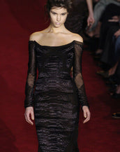 F/W 2004 TOM FORD for YVES SAINT LAURENT BLACK CHINOISERIE DRESS