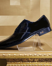 S/S 2011 look # 31 NEW VERSACE BLACK PATENT LEATHER LOAFER SHOES 44 - 11