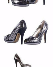 $1,275 NEW ROBERTO CAVALLI BLACK EMBELLISHED PLATFORM OPEN TOE SHOES 40.5 - 10.5