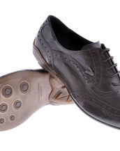 NEW VERSACE BROWN LEATHER LACE UP SHOES 42 - 9