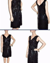 VINTAGE GUCCI SEQUINED BLACK DRESS 40 - 4