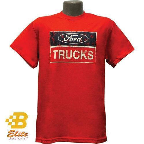Ford Trucks Distressed Logo T-Shirt - Red
