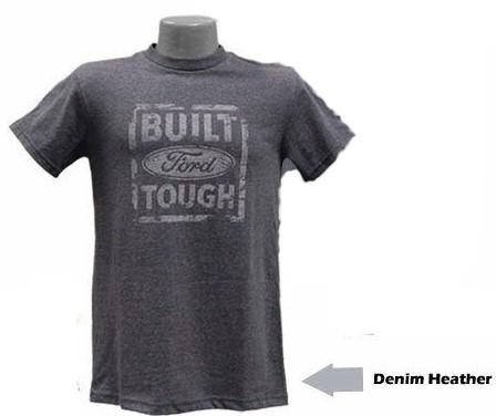 Built Ford Tough Distressed Logo Denim T-Shirt