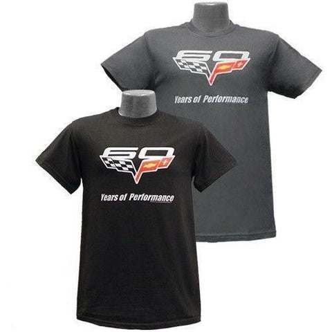 Chevrolet Corvette 60th Anniversary Mens Charcoal / Black T-Shirt