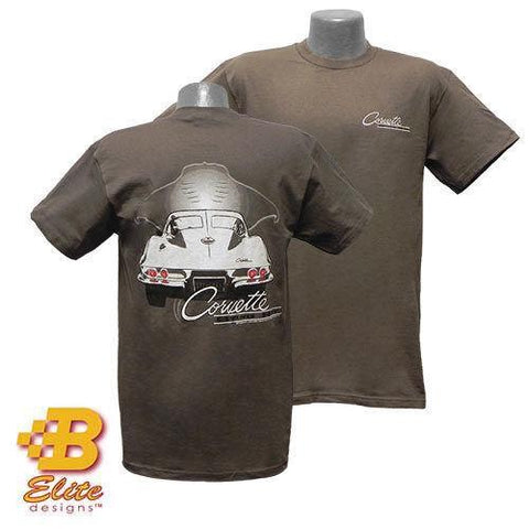 Chevrolet Corvette C2 1963 Sting Ray Mens Charcoal T-Shirt