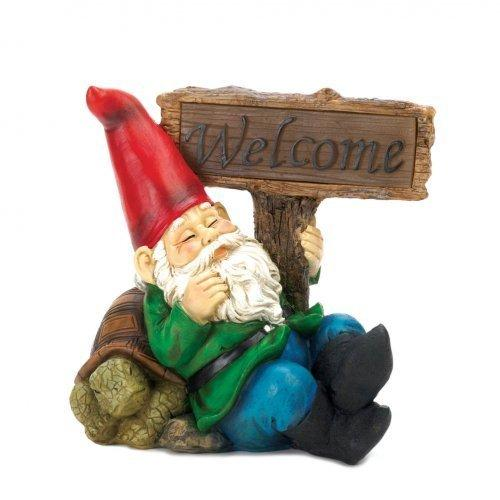 Welcome Gnome Solar Light Statue (pack of 1 EA)
