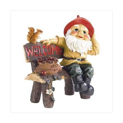 Garden Gnome Greeting Sign (pack of 1 EA)