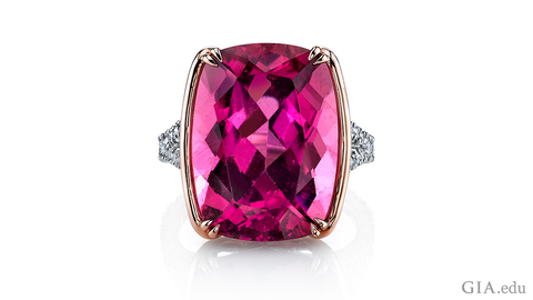 Omi Prive pink tourmaline and diamond ring