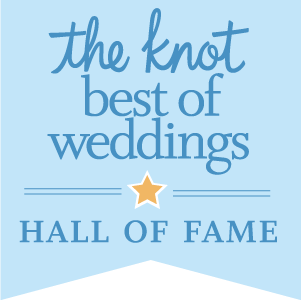 The knot best of weddings logo. 11 years in a row, the knot hall of fame. Birmingham Jewelry voted best of weddings in Michigan for Birmingham Jewelry