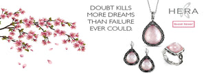 Designs by Hera blush pink silver jewelry set banner - shop now - Birmingham Jewelry