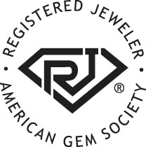 Registered Jewelers logo. RJ's on staff at Birmingham Jewelry in Sterling Heights