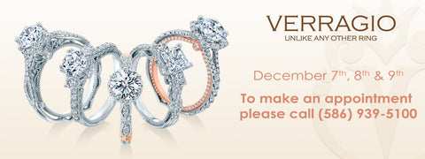Verragio Bridal Event December 7 through 9, 2018 RSVP today