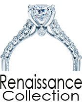 Verragio Engagement Ring and wedding band Renaissance Collection Jewelry