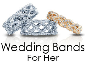 Verragio Ladies Wedding Bands jewelry For Her and Eterna Collection Bands