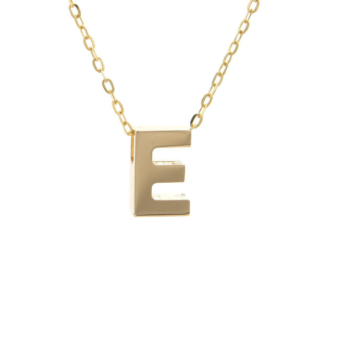 14KT yellow gold initial E necklace