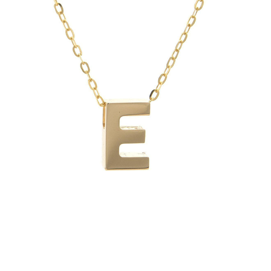 "Birmingham Jewelry - 14K Gold Initial ""E"" Necklace - Birmingham Jewelry"