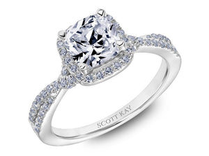 SCOTT KAY Scott Kay - SK6737 - Namaste Engagement Ring - Birmingham Jewelry