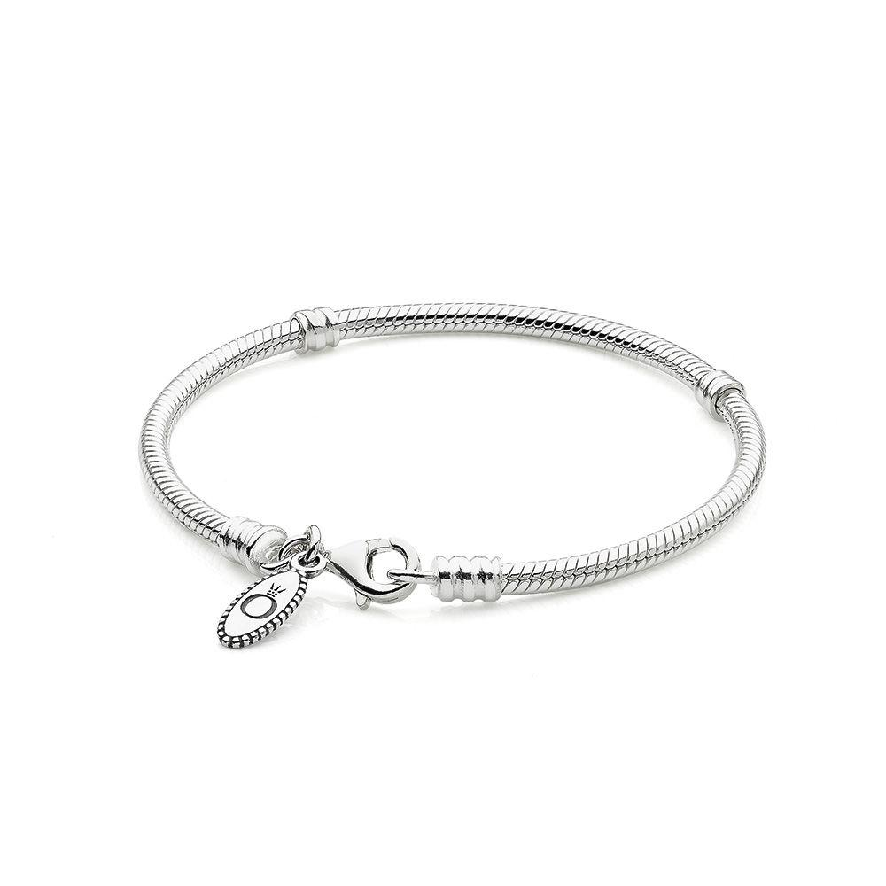 Pandora - 590700HV - Silver Charm Bracelet With Lobster Clasp