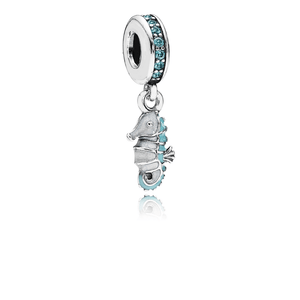 Pandora - 791311MCZ - Tropical Seahorse Dangle Charm