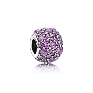 Pandora - 791755CFP - Shimmering Droplets Charm (Purple)