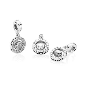 Pandora - 797430CZ - Spinning PANDORA Signature Dangle Charm