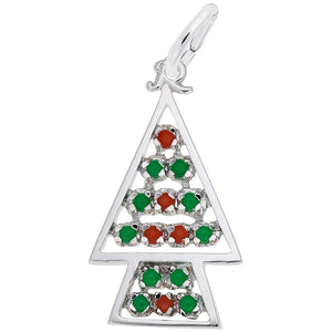 Rembrandt Charms - Beaded Christmas Tree Charm - 8187