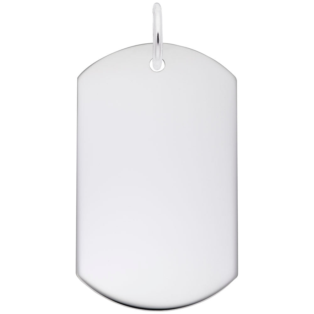Rembrandt Charms - Dog Tag Polished Finish - 8400