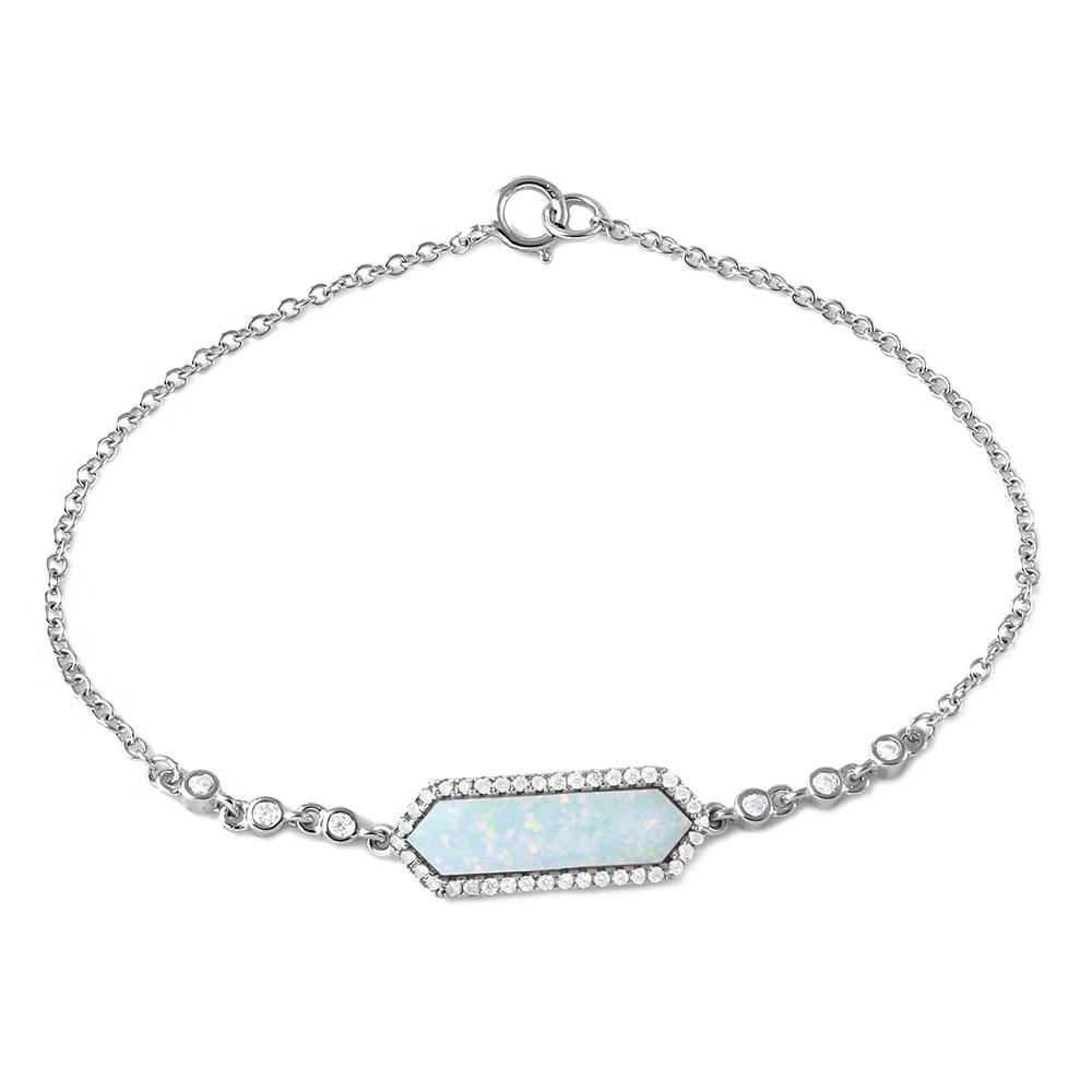 Mother Opal Center Stone Bracelet